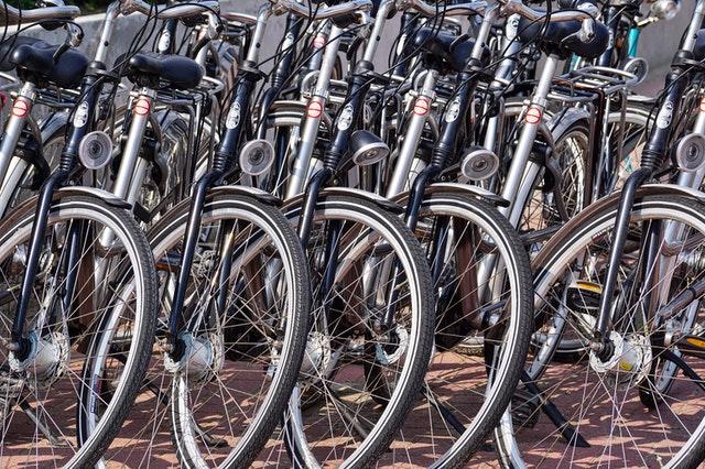 Rangée de vélos
